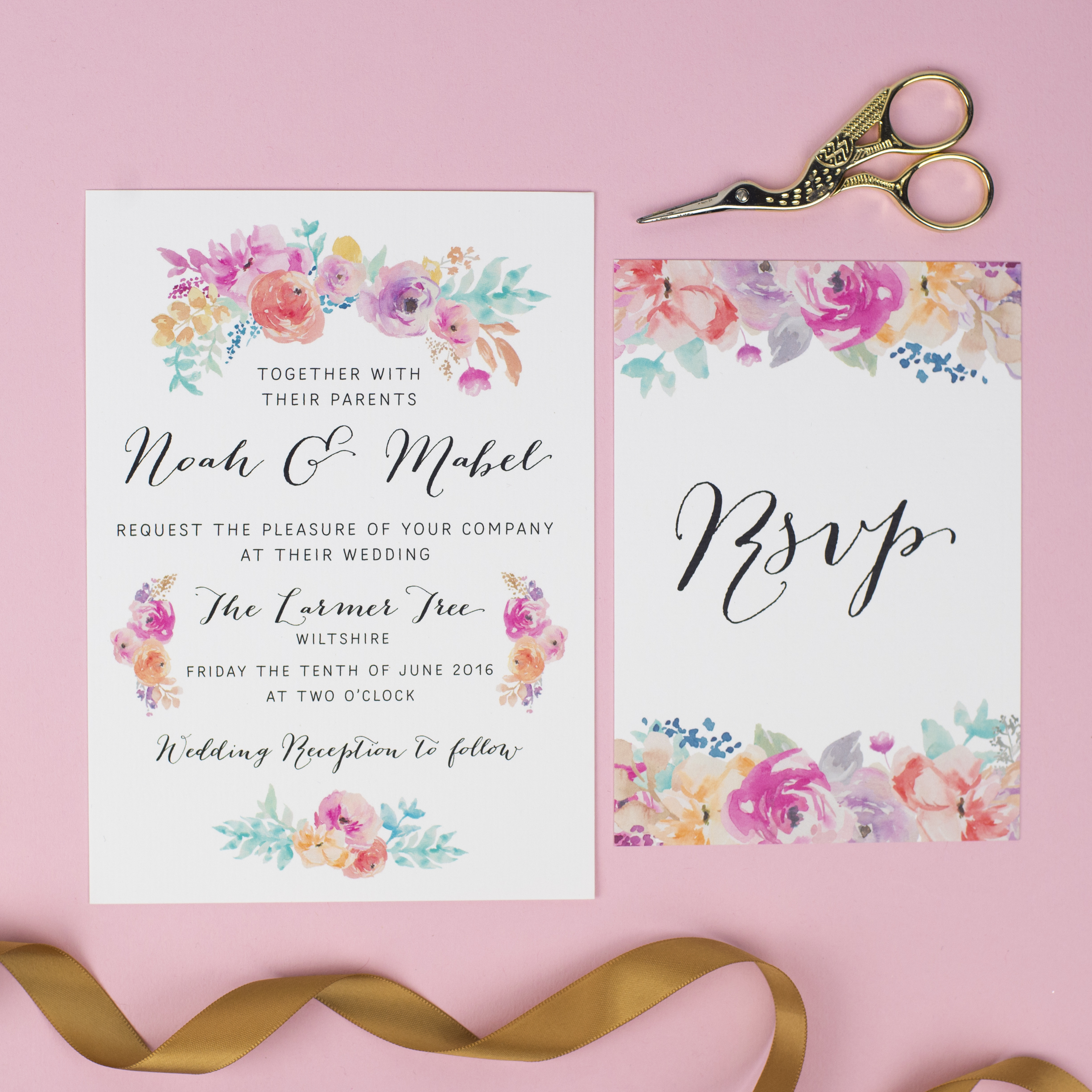 Wildflower Invitation and RSVP (3)